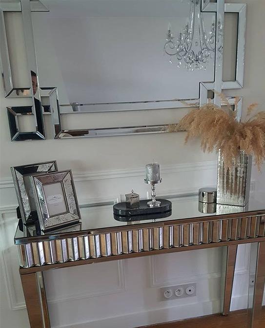 Console bureau ARTICA - MDF et miroir