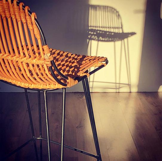 Lot de 2 chaises NASURA - Rotin - Naturel