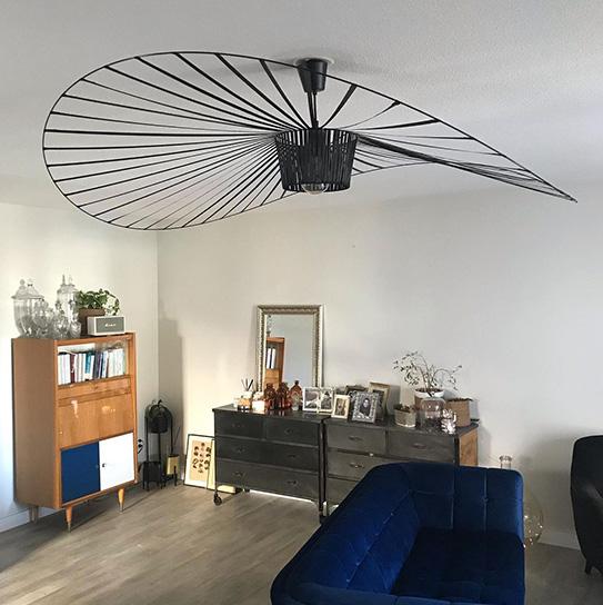 Canapé 3 places SAMANTHA en velours - Bleu nuit