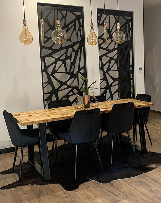 Lot de 6 chaises MASURIE - Velours - Noir