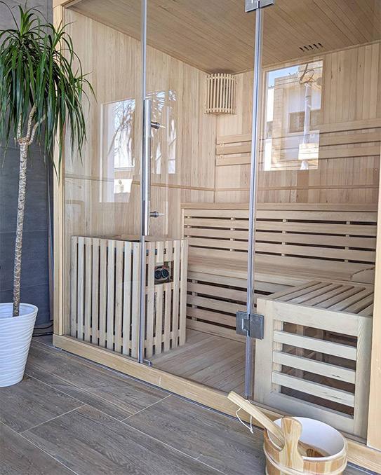 Sauna traditionnel Finlandais 4/5 places  KOLDING - 180x160x200cm