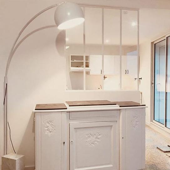 Verrière atelier BAYVIEW en aluminium thermolaqué blanc - 120x130cm